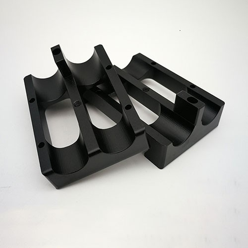 Photographic accessories cnc milling parts with black oxidation