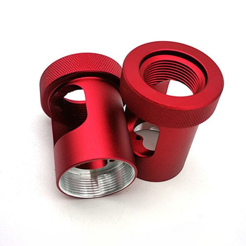 cnc turning auto spare parts with red oxidation