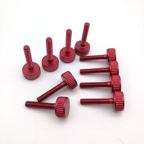 cnc turning red oxidation threads screw